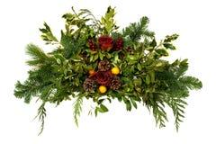 Święta preparatów szyszek sosna odizolowana Obraz Royalty Free