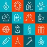 Święta przycinanie cyfrowej zawiera symbole ilustracyjne ustalenia ścieżki Obrazy Stock