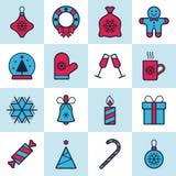 Święta przycinanie cyfrowej zawiera symbole ilustracyjne ustalenia ścieżki Zdjęcie Stock