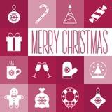 Święta przycinanie cyfrowej zawiera symbole ilustracyjne ustalenia ścieżki Obrazy Royalty Free