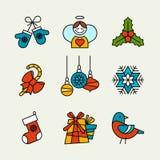 Święta przycinanie cyfrowej zawiera symbole ilustracyjne ustalenia ścieżki Obraz Stock