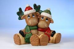 Święta reniferowi Zdjęcia Royalty Free