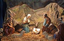 Święta rodzima scena, bazylika Najwięcej Świętego serca Jezus, 6, Palmoticeva ulica, Zagreb Fotografia Stock