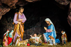 Święta rodzina, boże narodzenia, narodzenie jezusa zdjęcia stock