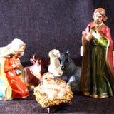 Święta rodzina w tradyci boże narodzenia Fotografia Royalty Free
