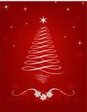Święta scrolled drzewa Obraz Royalty Free