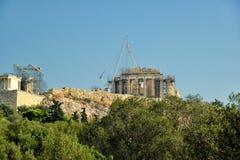 Święta skała akropol Zdjęcie Stock