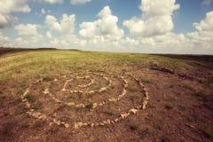 Święta spirala, symbol nieskończoność zdjęcie stock