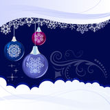 Święta tła śniegu niebieskie płatki śniegu Obraz Royalty Free