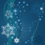 Święta tła śniegu niebieskie płatki śniegu Zdjęcie Stock