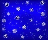 Święta tła śniegu niebieskie płatki śniegu ilustracji