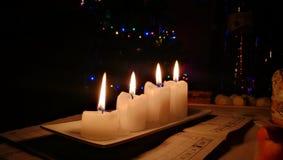 Święta tła blisko czerwony czasu Zdjęcie Stock