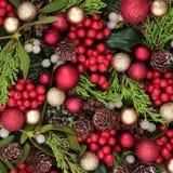 Święta tła blisko czerwony czasu Obrazy Royalty Free