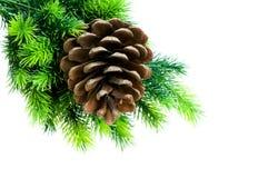 Święta tła drzewny odosobnione white zdjęcie stock