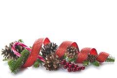 Święta tła drzewny odosobnione white Obrazy Royalty Free