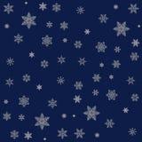 Święta tła odizolowanych płatki śniegu białe Zdjęcie Royalty Free