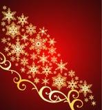 Święta tła płatki śniegu położenie royalty ilustracja