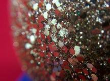 Święta tła sfer szklankę odizolować zabawki białe Zdjęcie Stock