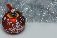 Święta tła sfer szklankę odizolować zabawki białe Fotografia Royalty Free