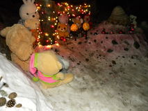 Święta tła sfer szklankę odizolować zabawki białe Obraz Royalty Free