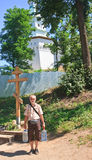 Święta wiosna 2007 23 czerwca Jerusalem klasztor nowego Rosji Istra przypuszczenia katedralna dmitrov Kremlin Moscow pocztówkowa  Zdjęcia Royalty Free
