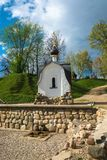 Święta wiosna Tikhvin ikona matka bóg na sp Obraz Stock