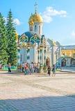 Święta wodna fontanna w St Sergius Lavra Zdjęcie Royalty Free