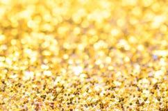 Święta złociste tło Zdjęcia Royalty Free
