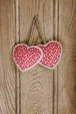 Święta złote serce różowa czerwony Fotografia Stock