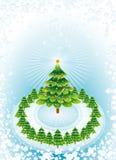 Święta zielone drzewa wektorowych Obrazy Royalty Free