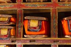 Święte Buddyjskie książki zdjęcia stock