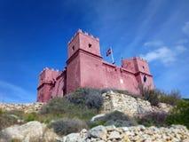 Świętego Agatha ` s wierza w Malta Obrazy Royalty Free
