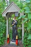 Świętego Anne ` s świątynia, wyspy la motte, Uroczysty wyspa okręg administracyjny, Vermont, Stany Zjednoczone USA Jeziorny Champ Obraz Stock