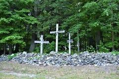 Świętego Anne ` s świątynia, wyspy la motte, Uroczysty wyspa okręg administracyjny, Vermont, Stany Zjednoczone USA Jeziorny Champ Zdjęcie Royalty Free
