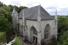 Świętego Barbe kaplica, Le Faouet, Brittany, Francja Fotografia Stock