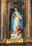 Świętego Beatrice statuy klasztoru Niepokalany poczęcie San Miguel Meksyk fotografia stock