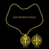 Świętego Benedykt medal Złoty ilustracji