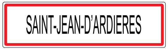 Świętego d Ardieres miasta ruchu drogowego znaka Cajgowa ilustracja w Francja Obraz Stock