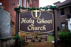 Świętego ducha kościół, opatrzność, Rhode - wyspa Obraz Royalty Free