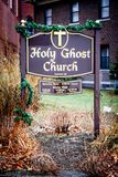 Świętego ducha kościół, opatrzność, Rhode - wyspa Zdjęcia Royalty Free