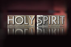 Świętego ducha Letterpress Fotografia Stock