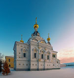 Świętego Elizabeth kościół w Dmitrov, Moskwa region, Rosja Fotografia Stock