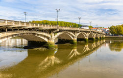 Świętego Esprit most w Bayonne Zdjęcia Stock