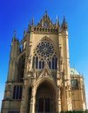 Świętego Etienne katedra, Metz, Lorraine, Francja, Europa Zdjęcia Stock