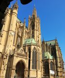 Świętego Etienne katedra, Metz, Lorraine, Francja, Europa Obraz Stock