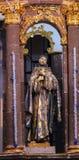 Świętego Francis statuy klasztoru Niepokalany poczęcie San Miguel De Allende Meksyk Obrazy Royalty Free