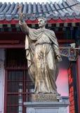 Świętego Francis Xavier statua w frontowej świętego Joseph katedrze w Pekin zdjęcie royalty free