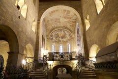 Świętego George bazyliki wnętrze wśród kasztelu Praga, republika czech zdjęcie stock