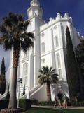 Świętego George LDS świątynia fotografia stock