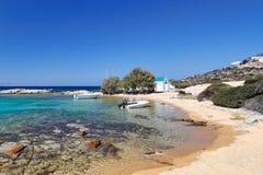 Świętego George plaża Antiparos, Grecja fotografia royalty free